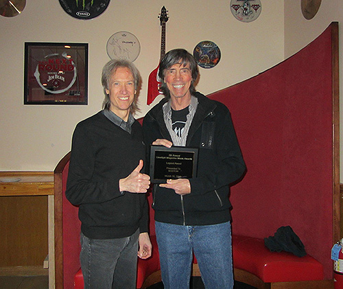 Tom and Gary with award